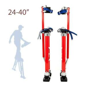 New Drywall Stilts Painters Walking Finishing Tools Adjustable 24 40 Red