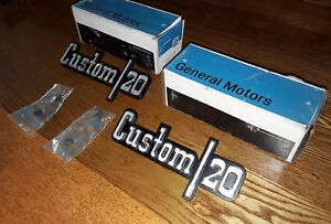 Nos Gm 73 74 75 76 77 78 79 Chevy Truck Custom 20 Fender Emblems 1973 1974 1975