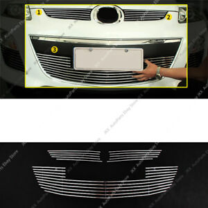 3pcs Metal Mesh Front Bumper Lower Middle Grille Grill For Mazda Cx 7 2010 12