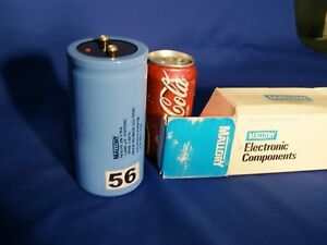 Mallory 1800 Uf 450v Large Can Electrolytic Aluminum Capacitor 1800 Mfd 450 Vdc