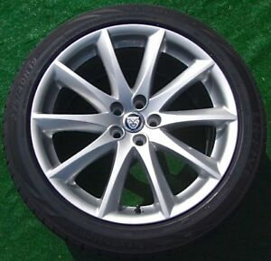 Set 4 Perfect Genuine Oem Factory Jaguar Xjl Xj Aleutian 19 In Wheels New Tires