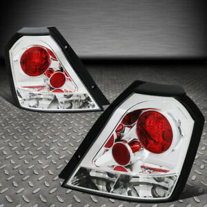 For 04 08 Chevy Aveo 5 Hatchback Chrome Housing Tail Light Brake parking Lamps