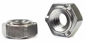 Hex Weld Nuts Steel Short Pilot 3 Projections Unc Coarse Sizes Qty 1 000