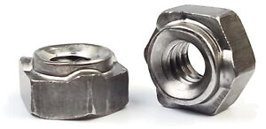 Hex Weld Nuts Steel Long Pilot 3 Projections Unc Coarse Sizes Qty 250