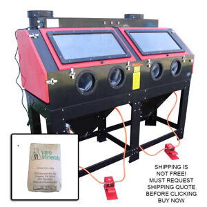 Redline Re49 Double Dual Abrasive Sand Glass Media Blasting Blaster Cabinet