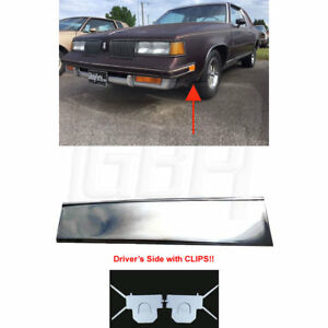 81 88 Cutlass Lower Fender Chrome Molding Trim Front Of Tire Left With Clips