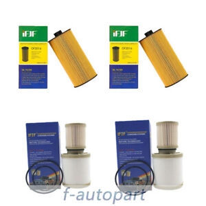 2 Pcs Diesel Oil Fuel Filter Kit Fd4616 2016 For 03 07 Ford 6 0l Powerstroke