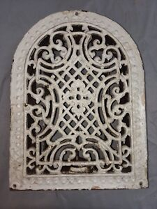 Antique Cast Iron Arch Top Dome Heat Grate Wall Register Vintage 93 18f