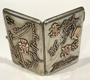 Wow Rare Antique Russian Imperial Gold Script 84 Silver Cigarette Case Moscow
