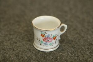 Antique Victorian Hand Painted Miniature Porcelain Child S Cup For A Good Boy