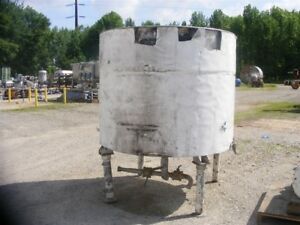 Used 600 Gallon Hamilton Stainless Steel Tank Kettle Cone Bottom And Open Top