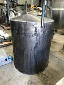 Used 350 Gallon Vertical Stainless Steel Tank Cone Bottom Open Top