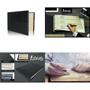 Skittz Premium Pu Leather Business Check Binder 7 Ring 3 On A Page Checkbook