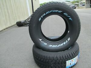 2 New 235 60r14 Starfire Gt Tires 60 14 2356014 R14 60r White Letters