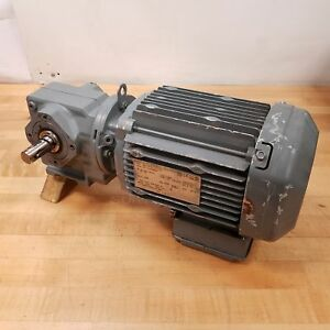 Sew eurodrive Inc Sa37dre80m4 Electric Motor Gear Reducer 3ph 1hp Used