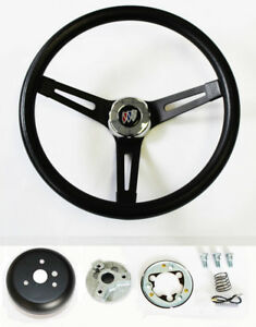 1967 1968 Buick Skylark Riviera Gs Black On Black Spokes Steering Wheel 13 1 2