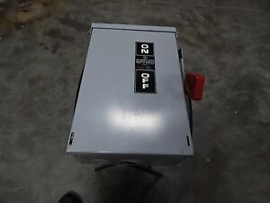 Ge Heavy Duty Safety Switch 30 Amp 600 Volt Disconnect Th3361r Model 7