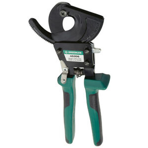 Greenlee 45206 10 inch Durable Compact Two speed Cable Ratchet Cutter