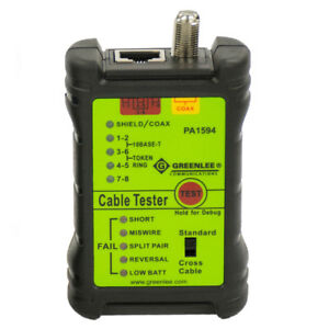 Greenlee Pa1594 Durable Auto Scanning Lan And A c Tester Cable Check