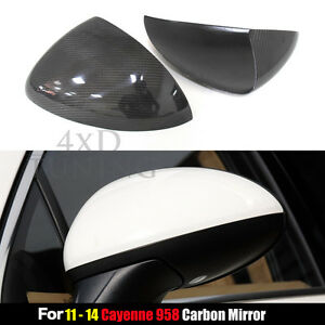 2011 2014 For Porsche Cayenne 958 Carbon Fiber View Mirror Cover Add On Style