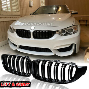 Gloss Black Front Grille Grill For 2014 2018 Bmw 420i 428i 430i 435i F80 M3 4dr