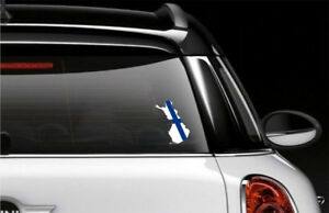 Finland Country Flag Car Bumper Decal Sticker