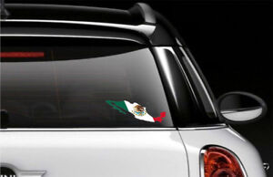 Mexico Country Flag Car Bumper Decal Sticker