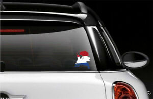 Netherlands Country Flag Car Bumper Decal Sticker