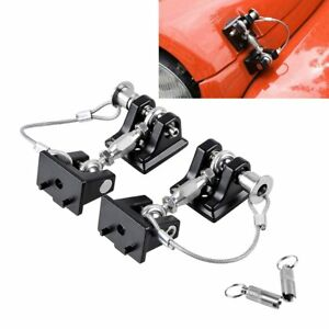 Hood Catch Lock Bracket Latch Keys For 2007 2017 Jeep Wrangler Jk Unlimited