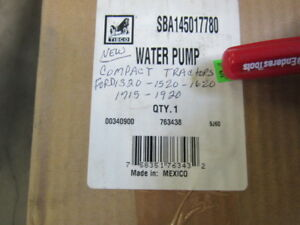 Ford Compact Tractor Water Pump 1320 1520 1620 1715 1920 Sba145017780 New