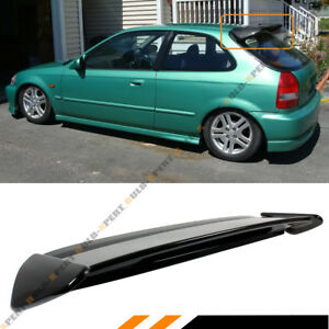For 96 00 Honda Civic 3d Hatchback Gloss Black Type r Style Roof Spoiler Wing