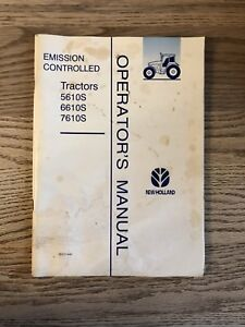 New Holland 5610s 6610s 7610s Emission Controlled Operator Manual