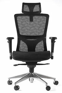 Modern Mesh Office Desk Chairs With Adjustable Headrest Backrest And Armrest