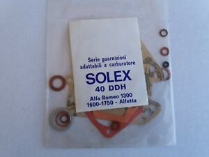 Solex 40 Ddh Carburetor Gasket Kit For Alfa Romeo 1300 1600 1750 Alfetta
