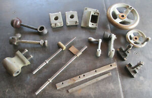 Lot Of Assorted Vintage Lathe Parts Logan South Bend Ames Free Shipping