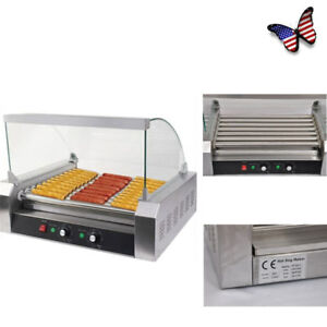 Commercial 30 Hot Dogs Machine 7 roller Stainless Steel Home Party Use Us Stock