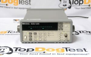 Hp Agilent Keysight 53181a Frequency Counter 225 Mhz 10 Digit sec Calibration