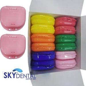 Up To 72 Dental Retainer Denture Storage Case Box Mouthguard Container Assorted