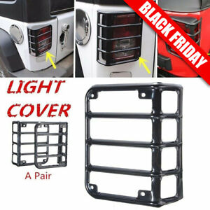 Tail Light Guards Cover Rear Lamps Trim Cover For 2007 2016 Jeep Wrangler Jk Hm