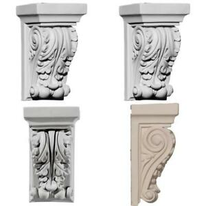 Antique Carved Corbel Shelf Mantle Bracket Fireplace Dining Decorative Small New