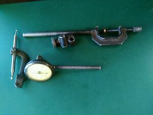 Federal Full Jeweled Back Plunger 001 Dial Indicator And Mounting Tools