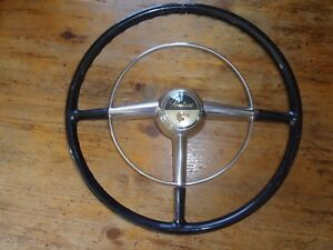 1950 Pontiac Steering Wheel Horn Ring And Horn Button