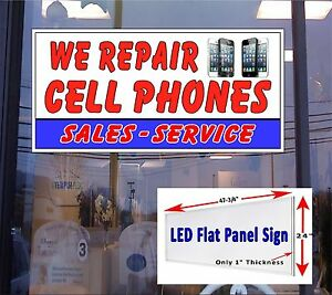 Led Sign We Repair Cell Phones 48x24 Window Sign Neon Banner Alternative Led