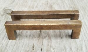 2 Solid Antique Brass Large Strong File Cabinet Drawer Handles 4 1 8 W P16