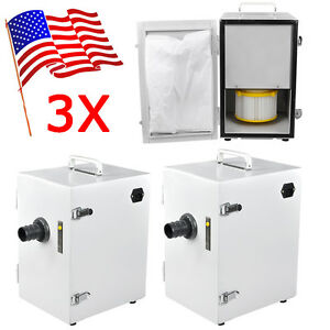 3 Set usa Portable Dental Industry Digital Dust Collector Vacuum Cleaner 370w