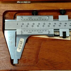 Starrett No 123m 350mm 02mm Inside outside Vernier Caliper Used