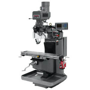 Jet Jtm 949evs 230 volt 3 hp 3 phase Mill W Acu rite 200s And X axis 690520