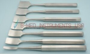 Or Grade Set Of 7 Hibbs Osteotomes Chisel Curved 7 5 Orthopedic Instruments