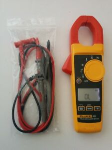 Fluke 325 True Rms Ac Dc Current Clamp Meter Multimeter New Test Lead Probes