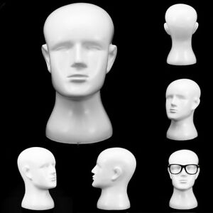 Resin Fiber Male Display Mannequin Head Iwigs Hat Glasses Headset Stand Model